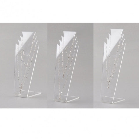 3 PCS Transparent Acylic L-shaped 3 Rooms Display Stand Rack Shelf Size S M L