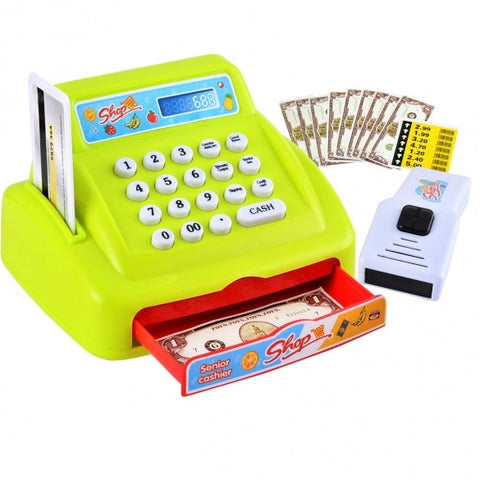 26PCS Hot Fashion Baby Toddler Toy Plastic Supermarket Cash Register Shopping Senior Cashier Set