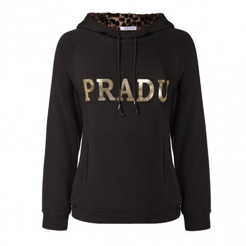 Autumn Fall Winter Stylish Ladies Women Long Sleeve Loose Hoodie Pullover