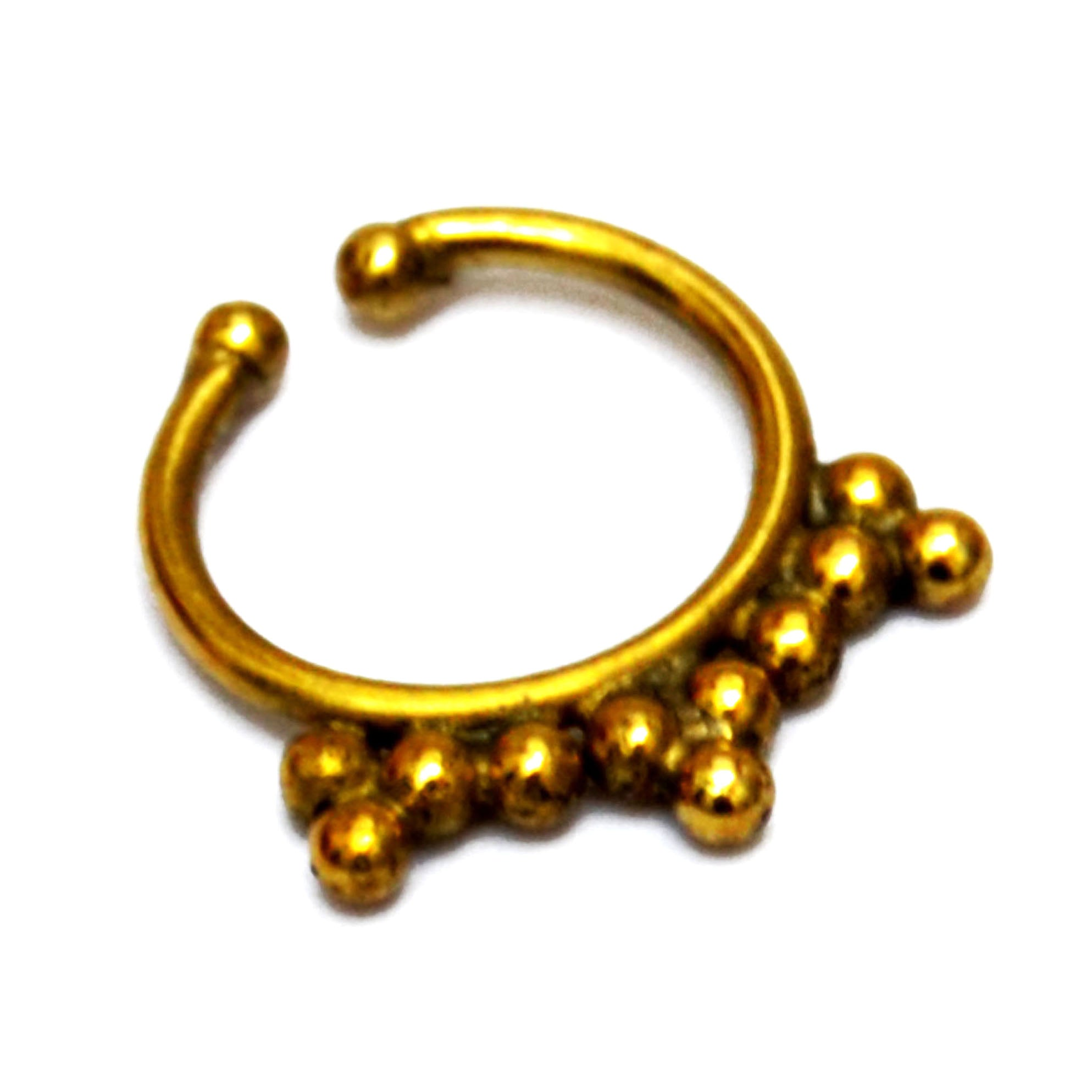 Fake gold nose ring