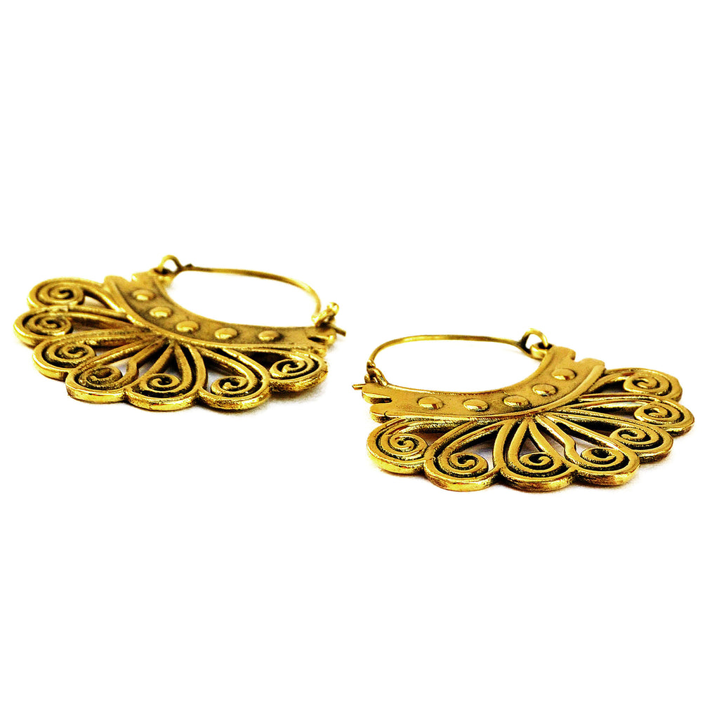 Tribal Brass Earrings