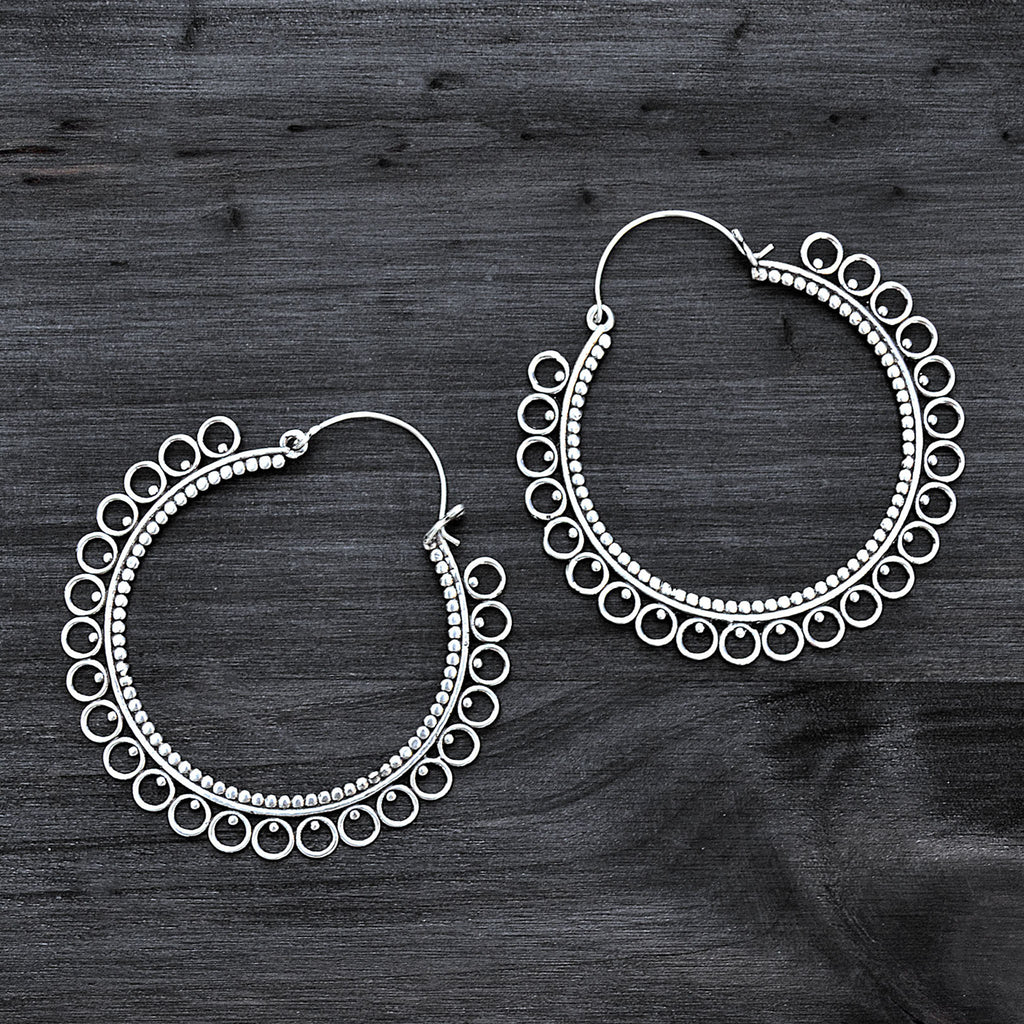 Big indian hoop earrings