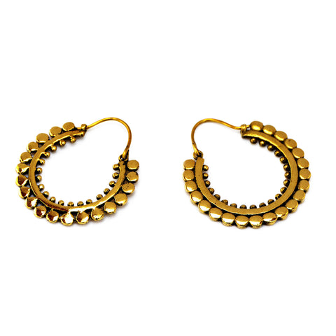 Oriental Hoop Earrings