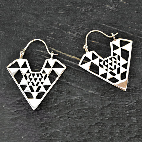 Geometric Triangle Earrings