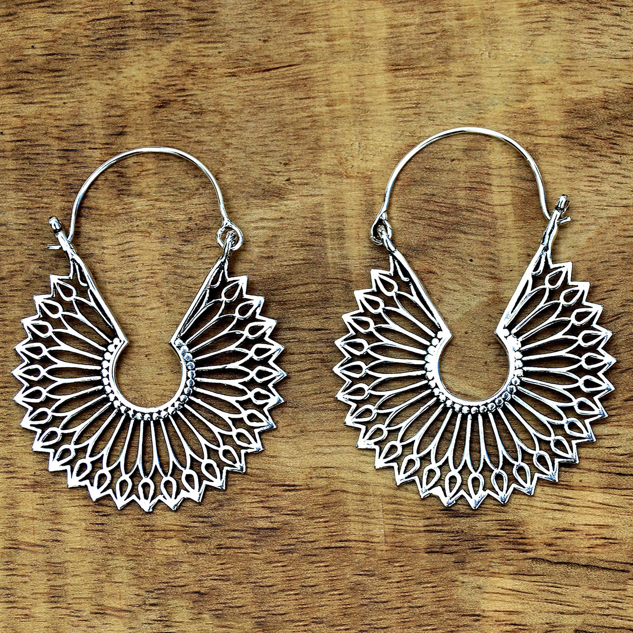 Indian mandala earrings
