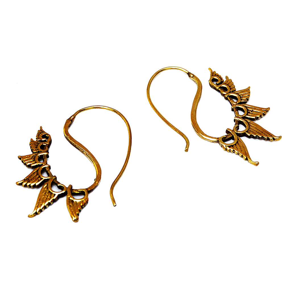 Spiral wings earrings