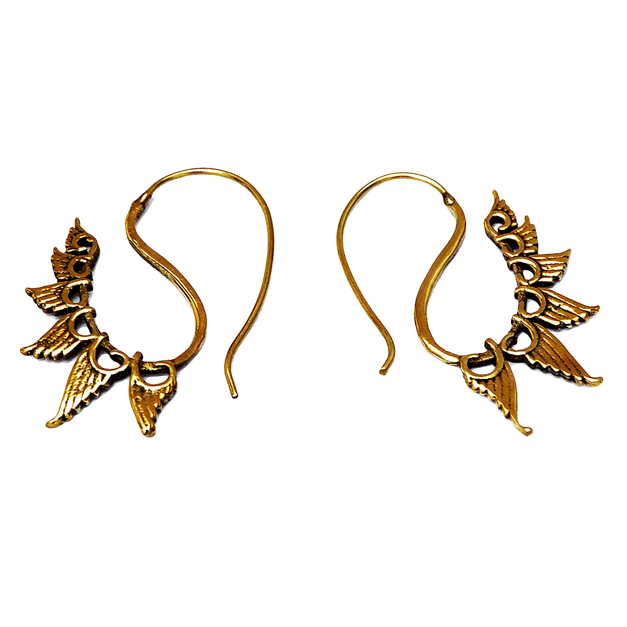 Tribal wings earrings