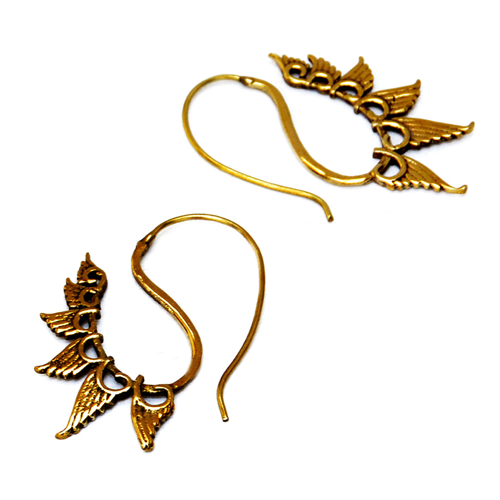 Festival earrings brass
