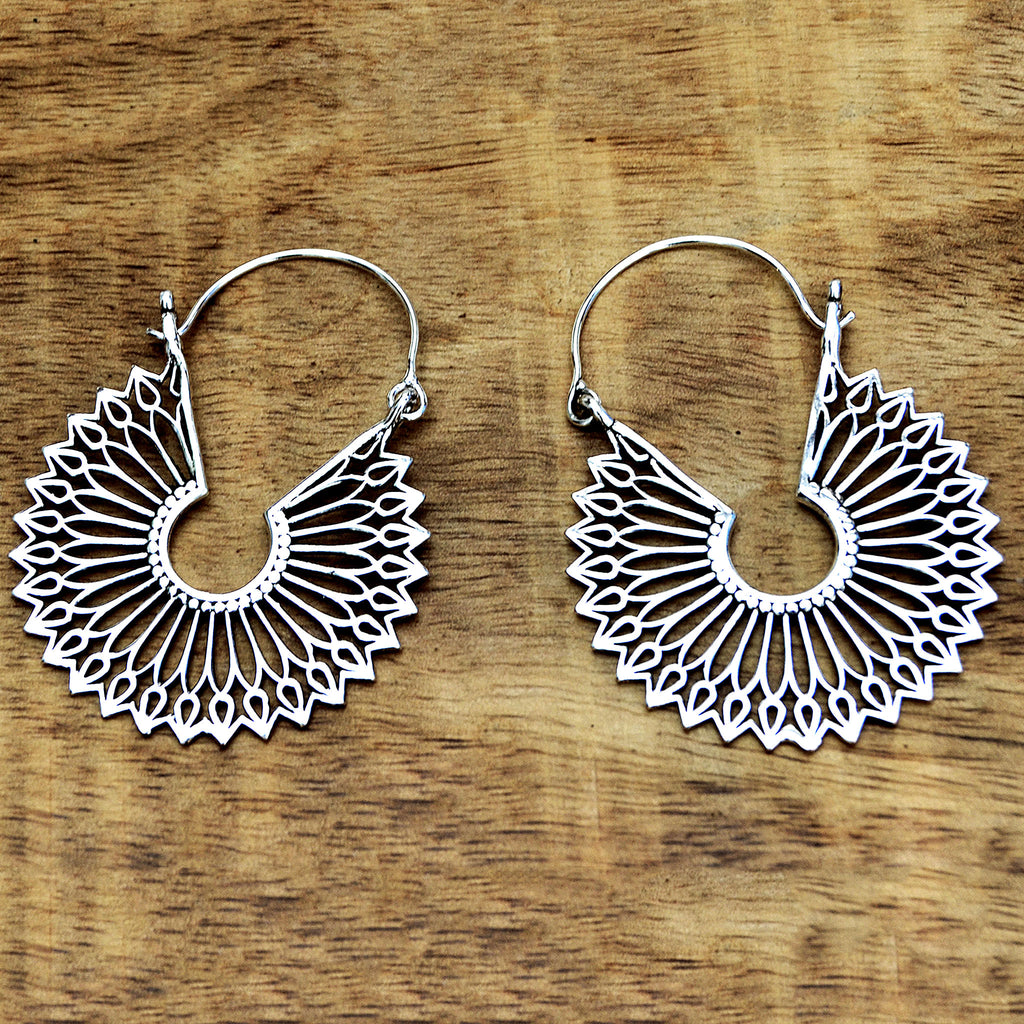 Ethnic mandala earrings