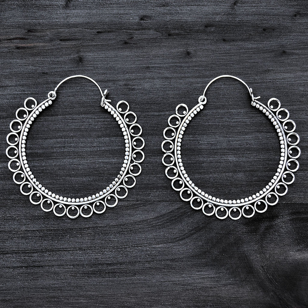Large gypsy hoop earrings