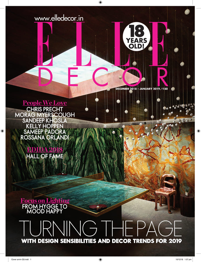Editorial Coverage | Elle Decor India December - 2018