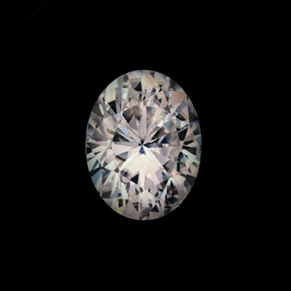 Oval 1.5ct Moissanite Center Stone with Moissanite Side Stones in 14k White Gold-Custom Order