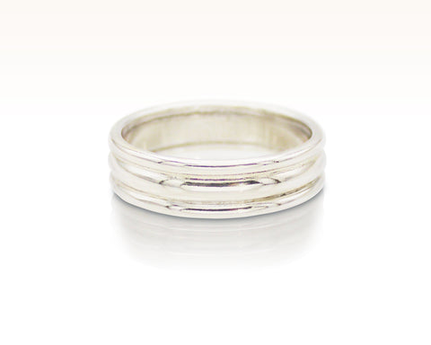 Triple Banded Argentium Silver Ring