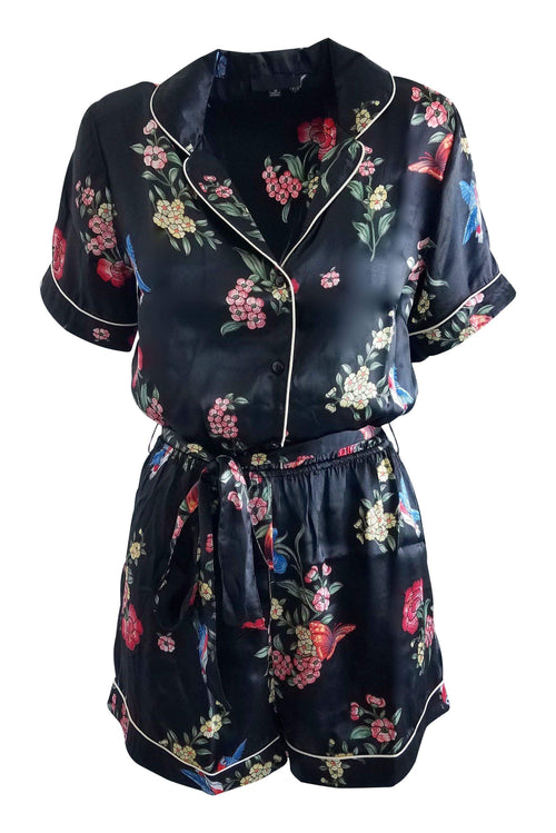 Botanic Gardens Kimono Romper Playsuit in Black - Playsuit - Timing - BKLYN Bodies