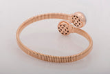 18k Rose Gold 1.2 ct Diamond Bangle Bracelet - Glad Jewelry