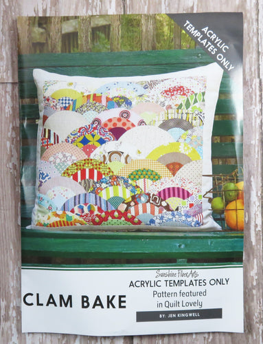 Clam Bake Quilt Pillow Acrylic Templates