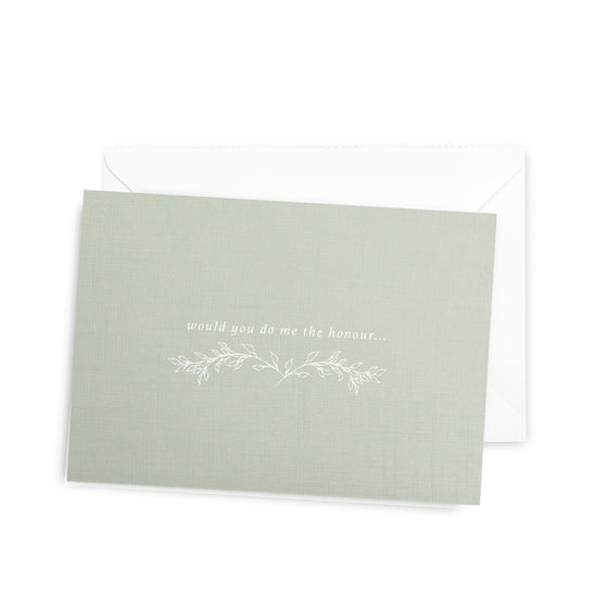 'Would You Do Me The Honour' Floral Greeting Card