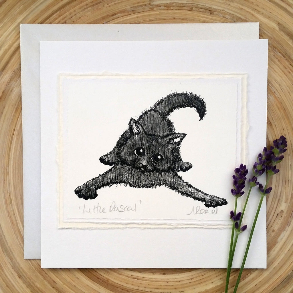 Little Rascal, Cat - Greetings Card