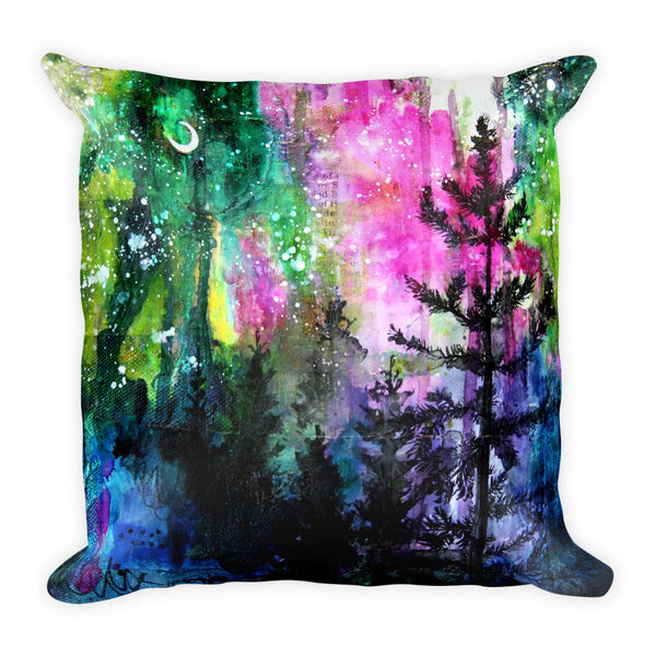 Singularity || Evening Trees Square Pillow