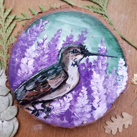 Hummingbird Wood Round