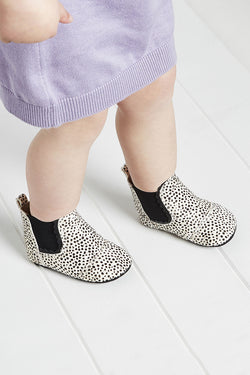BABIES Wilder Pony Mini White Spot Bootie