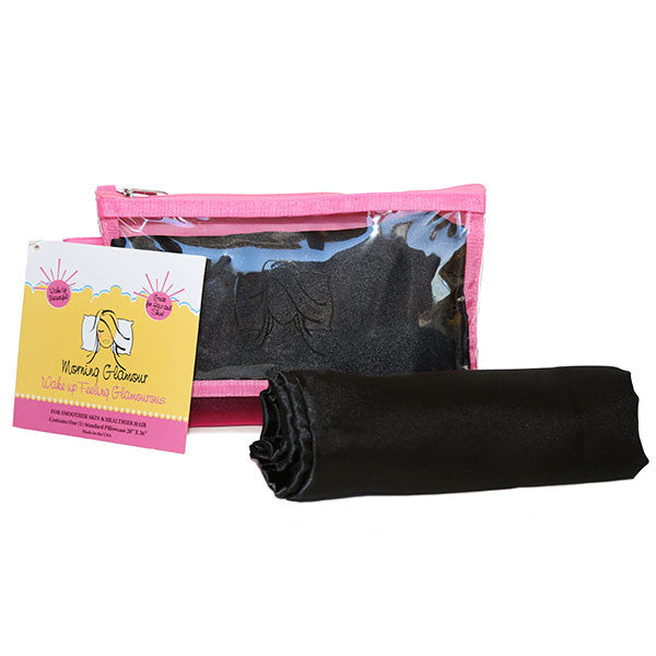 Black Travel Bag Pillowcase Set