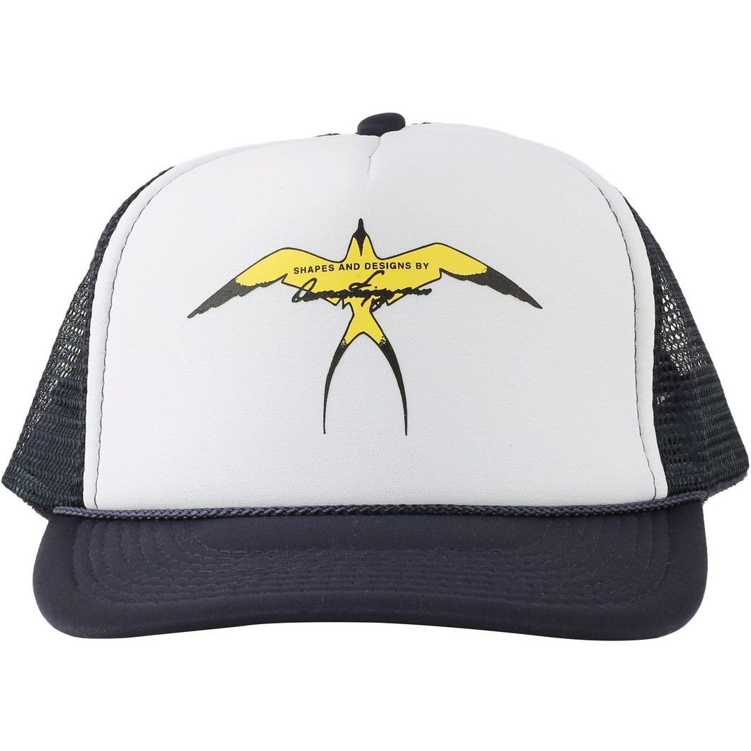 Hat103 - Donald Takayama single bird trucker hat