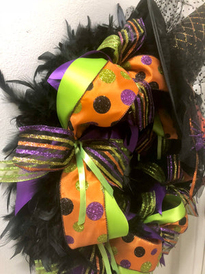 Wicked Witch of the East Halloween Wreath - Bonnie Harms Designs