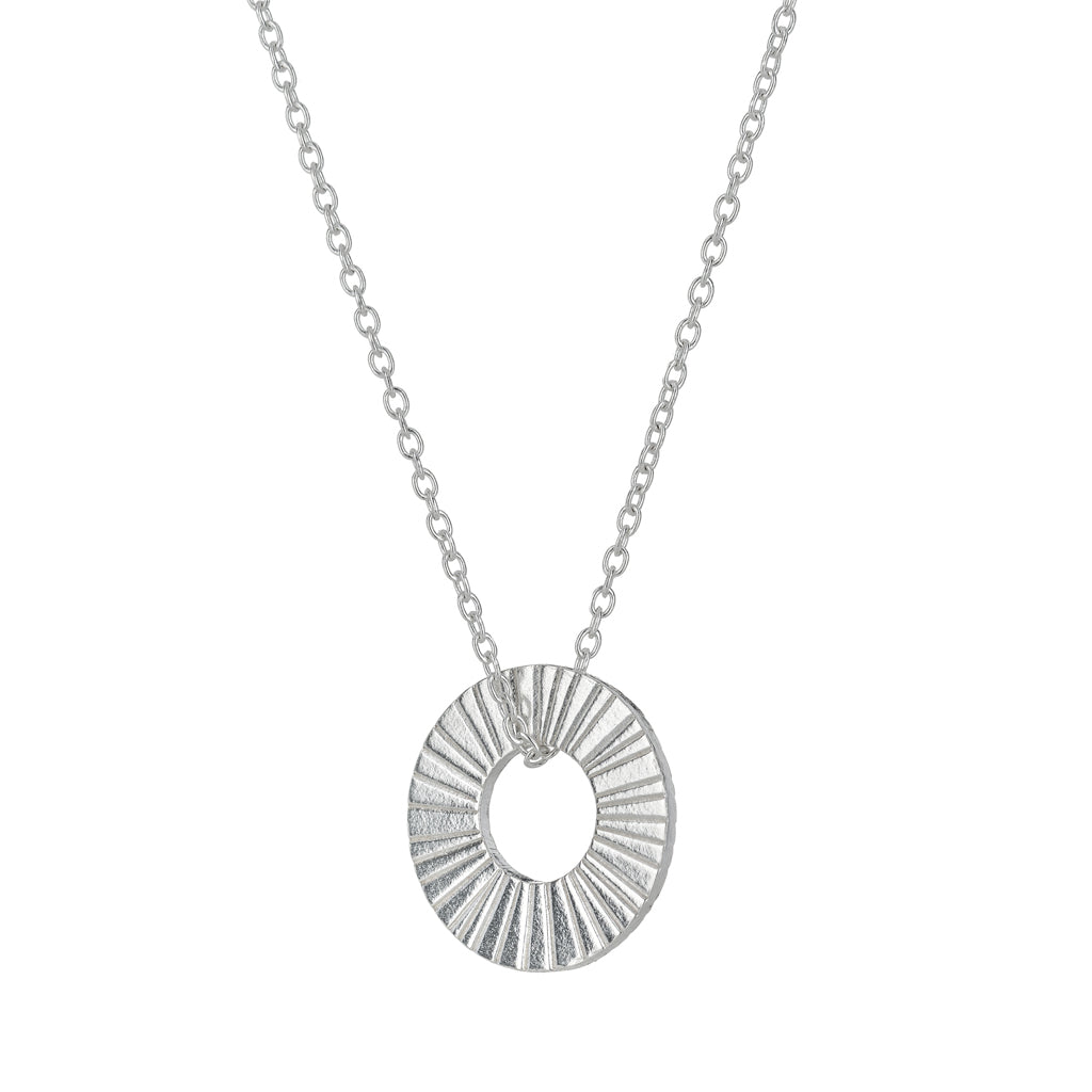 One & Eight Silver Surfside Hoop Necklace