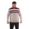 Walrus Apparel Bradley 1/2 Zip Stripe Pullover - Neutral Grey