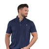 Walrus Apparel Paul Mens Golf Polo Shirt - Navy Peony
