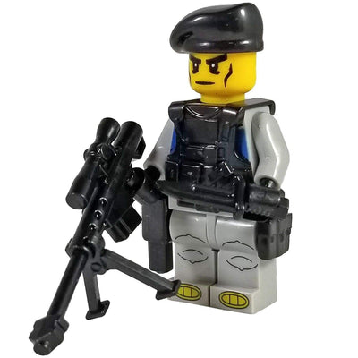 Minifig Black Beret Sniper-Brick Forces