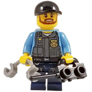 Minifig POLICE Officer with Radio-Brick Forces