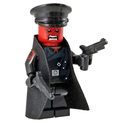 Minifig Red Skull-Brick Forces