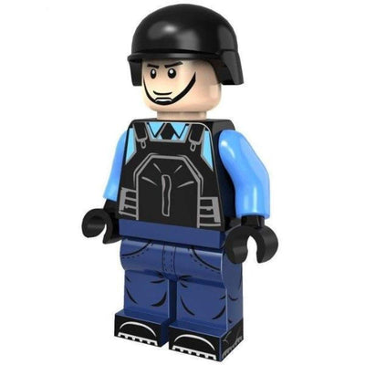 Minifig Riot POLICE Officer with Shotgun