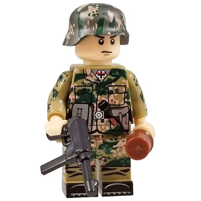 Minifig World War II German SS Dot CAMO Soldier Hans-Brick Forces