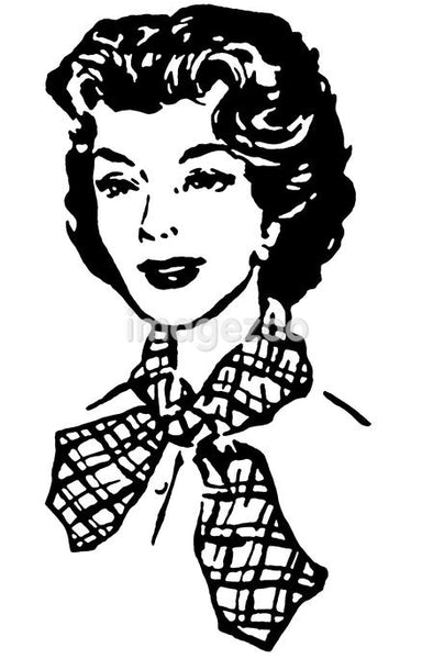 A vintage style portrait of a woman
