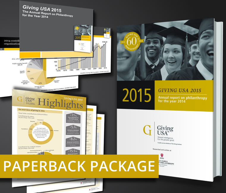 Giving USA 2015: The Annual Report on Philanthropy for the Year 2014 Paperback Book Package