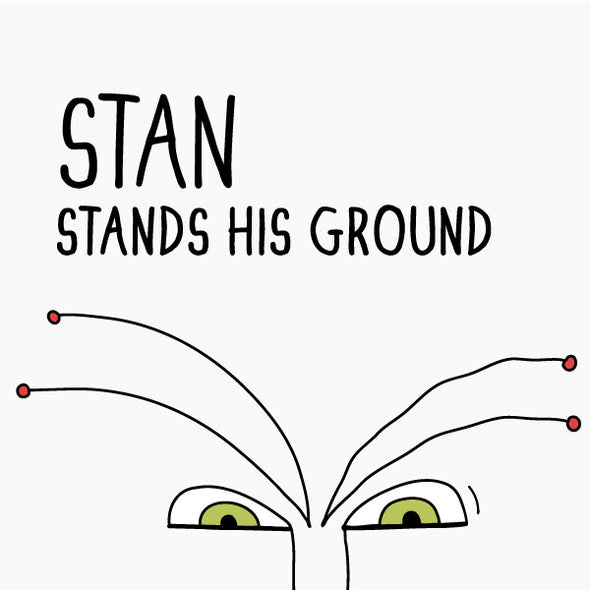 Stan Stands His Ground. The MoMeMans® by Monica Escobar Allen.