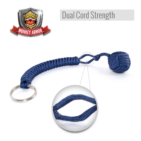 Dark Blue Monkey Fist Keychain