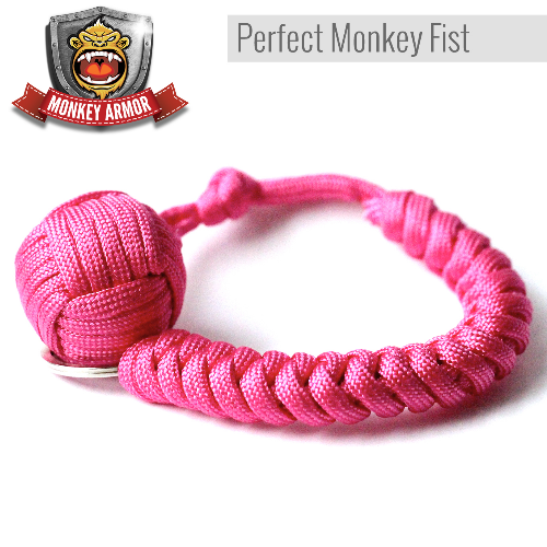 Pink Monkey Fist Keychain