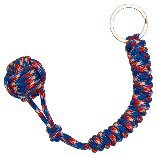 Old Glory Monkey Fist Paracord Keychain