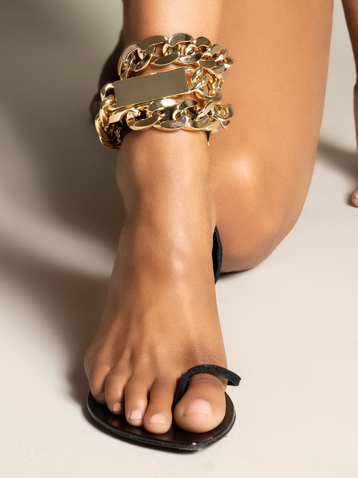 GOLD CHAIN SANDAL