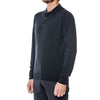 Black Merino V-Neck Pullover Sweater
