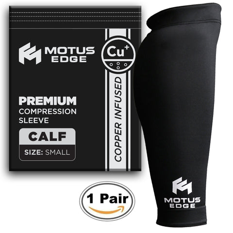 Motus Edge Copper Infused Calf Compression Sleeve (2-pack)