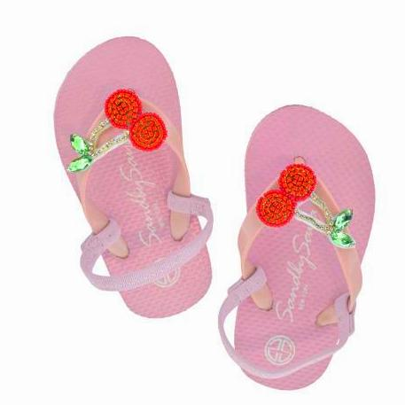 Baby Pink Cherry Kids / Baby Sandals Cute Stars
