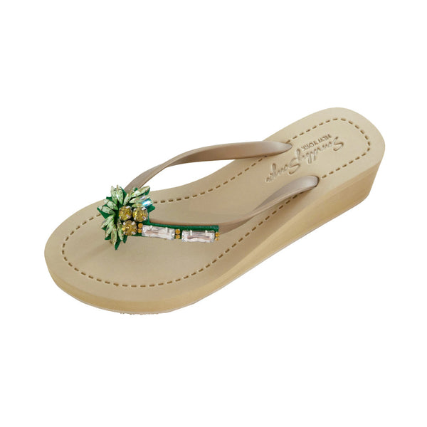 Palm Tree - Women's Mid Wedge