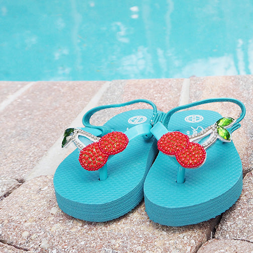 Sky Blue Cherry Kids / Baby Sandals Cute Stars View