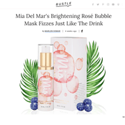 Amazon Exclusive - Brightening Rosé Bubble Face Mask