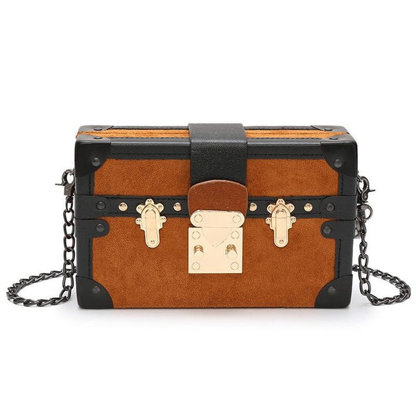 Splice Metal Buckle Box Shoulder Bag